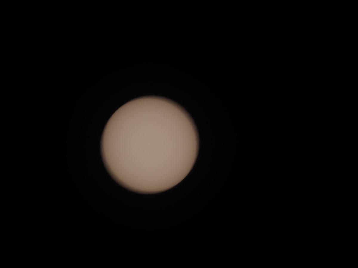 部分日食の撮影準備