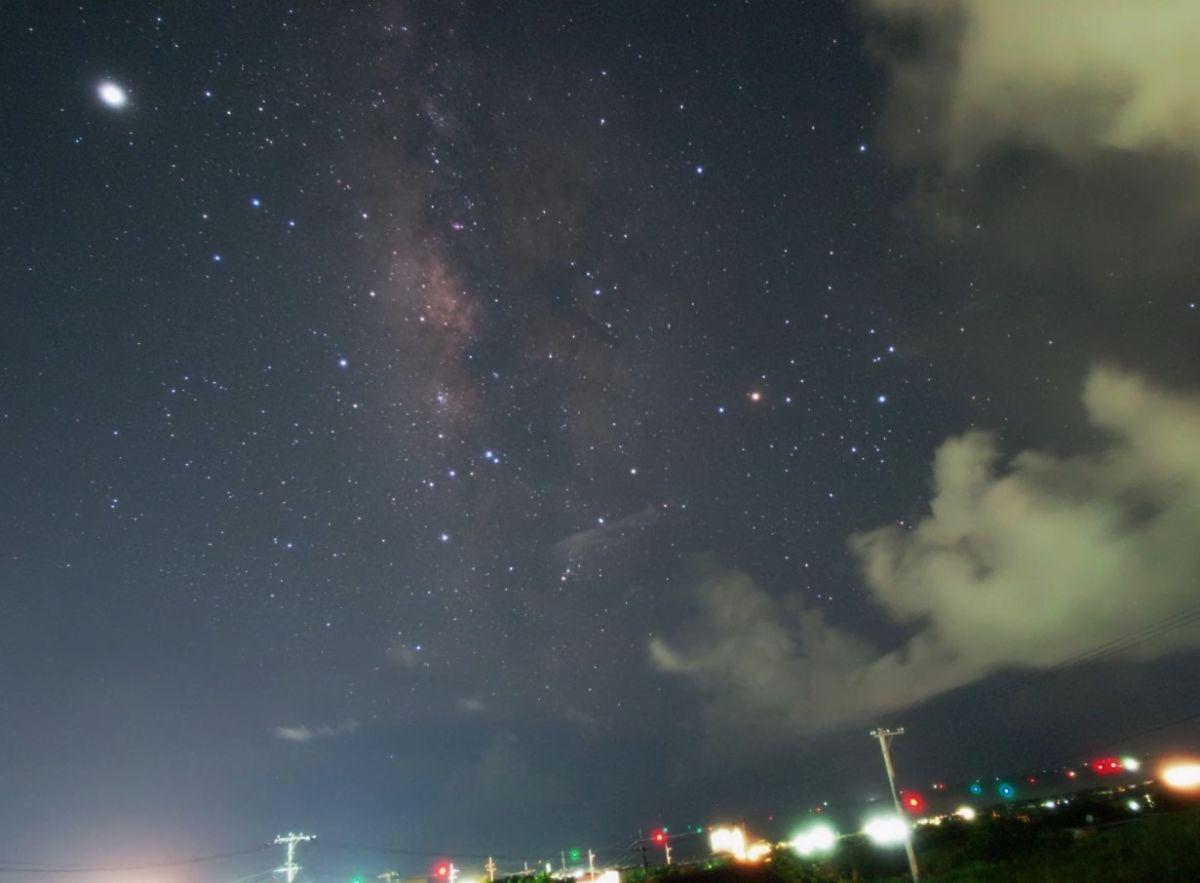 石垣島の天の川、タイムラプス映像で その2