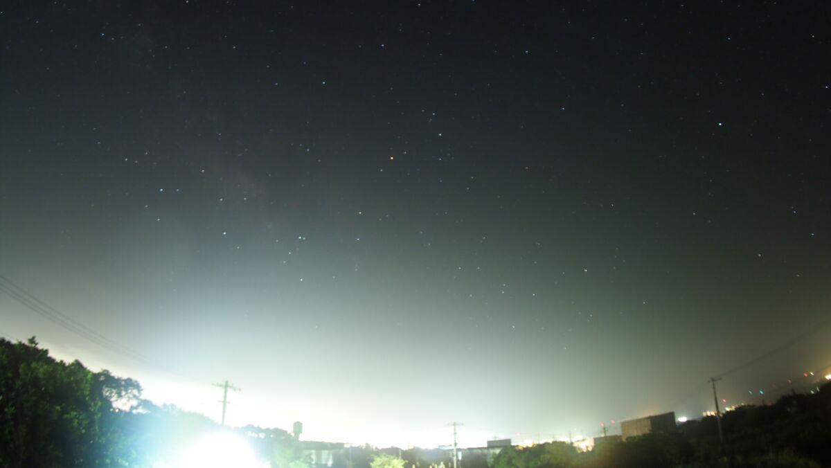 星空ナイトラプス、今回もいまひとつ