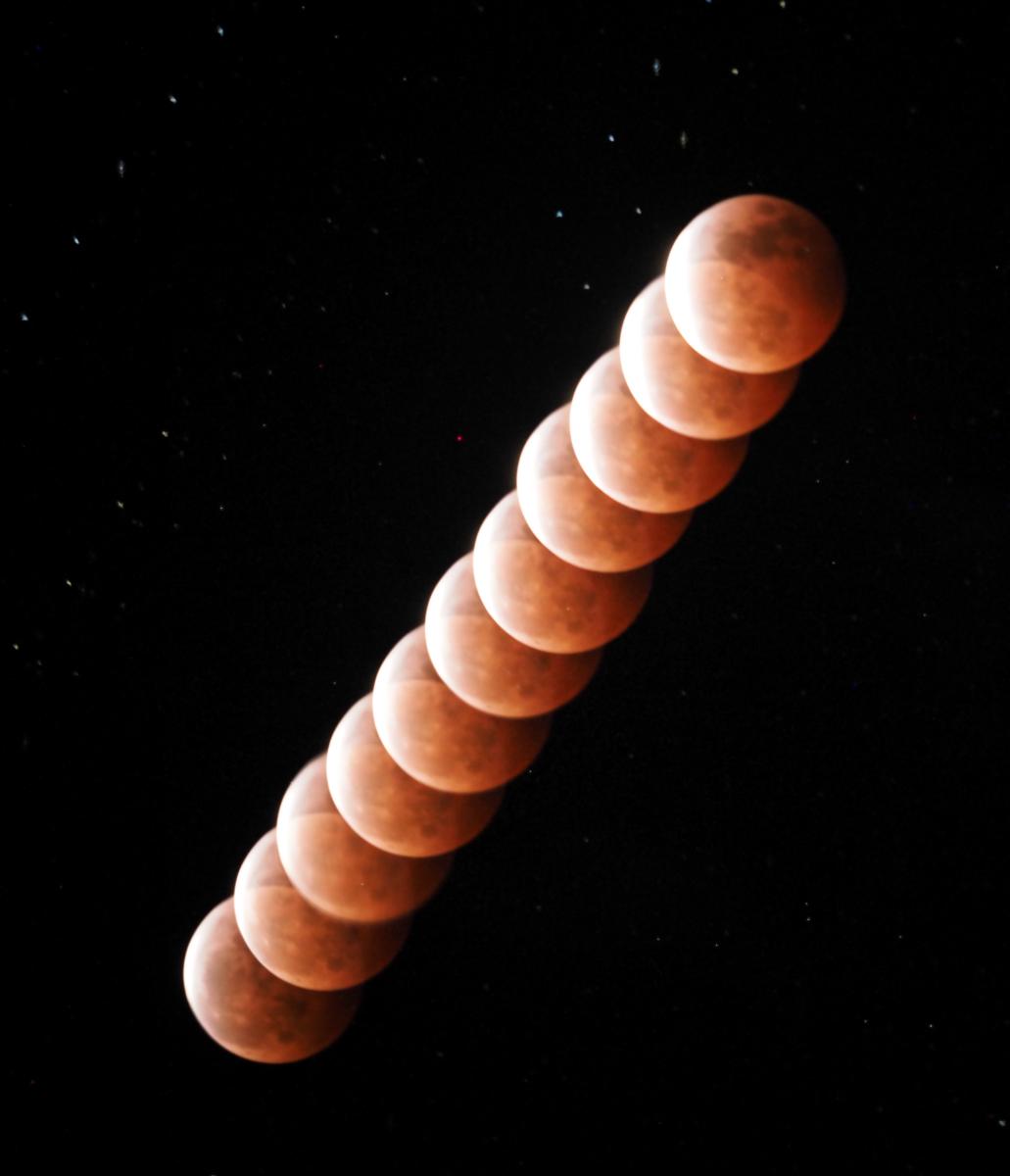 皆既月食撮影するも納得いかず