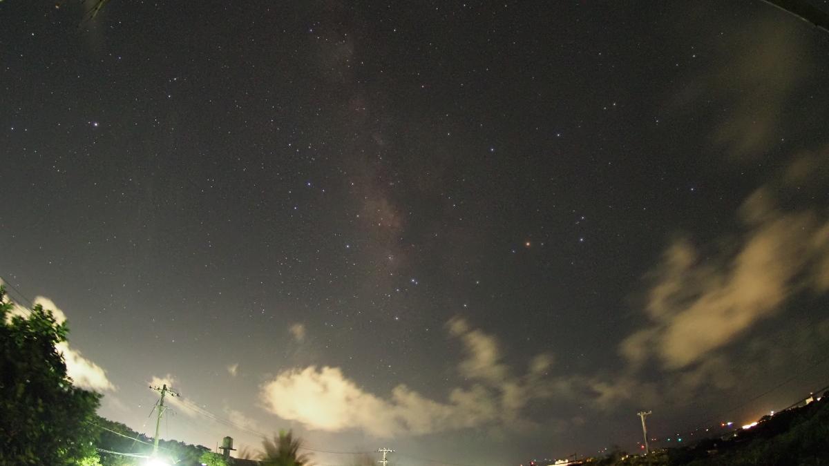 天の川、イマイチ