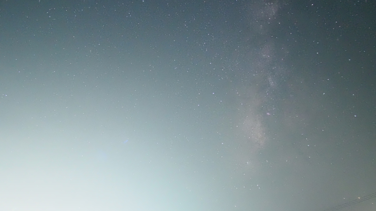 天の川ナイトラプス、画像加工してみることに